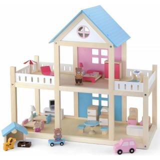 Medinis 2-jų aukštų namas su baldais | Viga 50255