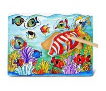 Medinis magnetinis stalo žaidimas | Sužvejok žuvytę | Viga 58423