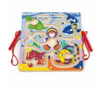 Medinis magnetinis žaidimas labirintas | Nardymo takelis | Viga 50123