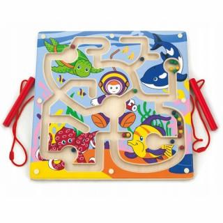 Medinis magnetinis žaidimas labirintas   Nardymo takelis   Viga 50123