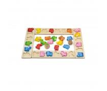 Medinis mokomasis stalo žaidimas | Gyvūnų lenktynės | Viga