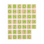 Medinės magnetinės didžiosios raidės 40 vnt   Viga 50588