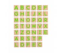 Medinės magnetinės didžiosios raidės 40 vnt | Viga 50588