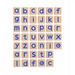 Medinės magnetinės mažosios raidės 40 vnt   Viga 50590