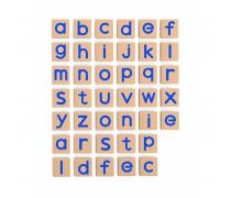 Medinės magnetinės mažosios raidės 40 vnt | Viga 50590
