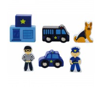 Medinių figūrėlių rinkinys | Policija | Viga 50814