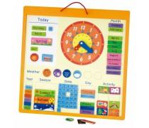 Mokomasis medinis magnetinis kalendorius 75 elementų | Viga 50377