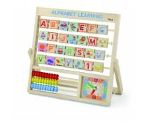Mokomoji lenta | Raidės - skaitliukai - laikrodis | Alphabet | Viga 50033