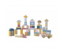Spalvotos medinės kaladėlės 60 vnt | PolarB | Viga 44010