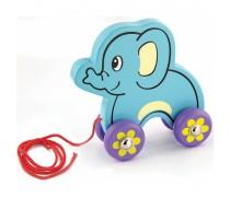 Traukiamas medinis drambliukas | Pull - Along Elephant | Viga 50091