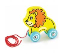 Traukiamas medinis liūtukas | Pull - Along Lion | Viga 50090