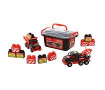 2 mašinėlių ir kaladėlių rinkinys dėžėje | Mammoet | Wader 57143