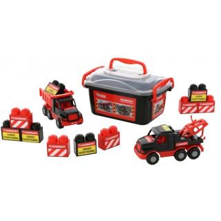 2 mašinėlių ir kaladėlių rinkinys dėžėje | Mammoet | Wader