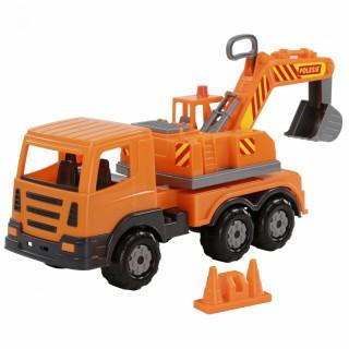 Sunkvežimis su besisukančia 360 laipsnių kabina ir kaušu | Wader
