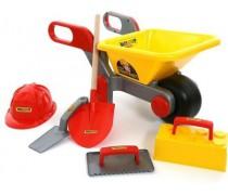 Karutis su statybiniais priedais ir šalmu | Wader 50229