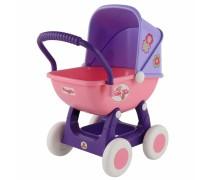 Rožinis vaikiškas lėlių vežimėlis| QT Arina | Wader 48202