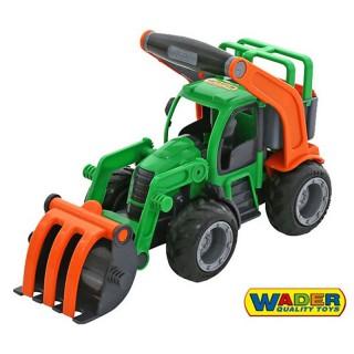 Traktorius su guminiais ratais | Wader