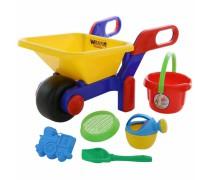 Vaikiškas karutis su smėlio žaislų rinkiniu | Wader