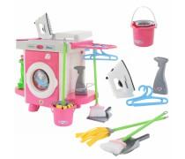 Žaislinė skalbimo mašina su valymo priedais 24 vnt | Wader 48103