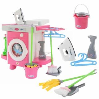 Interaktyvi žaislinė skalbimo mašina su valymo priedais 24 vnt | Carmen | Wader 48103