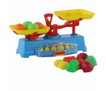 Žaislinės mechaninės svarstyklės su priedais | Wader 53787