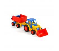 Žaislinis traktorius su priekaba | Gigant | Wader 9623
