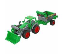 Žaislinis 57 cm traktorius su priekaba | Gigant | Wader 8718