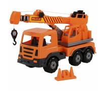Žaislinis sunkvežimis kranas 43 cm | Oranžinis | Wader 70579