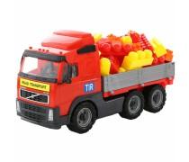Žaislinis Volvo sunkvežimis 46 cm su kaladėlėmis 60 vnt | Wader 9456
