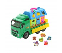 Žaislinis sunkvežimis su kaladėlių rūšiuokliu | Wader