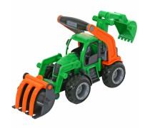 Žaislinis traktorius su guminiais ratais | Wader 37374
