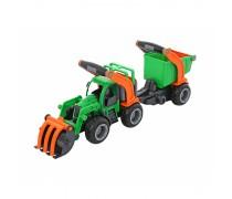 Žaislinis traktorius su priekaba | Wader 37411