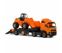 Žaislinis Volvo vilkikas su ekskavatoriumi | Wader 36803