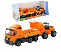 Žaislinis Volvo sunkvežimis ir ekskavatorius | Wader