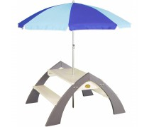 Medinis pikniko - iškylos stalas su skėčiu | Axi A031.021.00