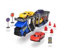 Sunkvežimis - vilkikas 30 cm su 5 metalinėmis mašinėlėmis ir priedais | Dickie 3745012