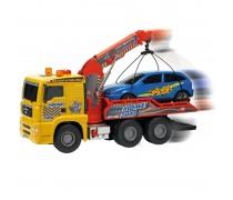 Automobilis vilkikas 55 cm su kranu ir mašina | MAN Air Pump Crane Truck | Dickie 3809001
