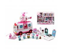 Hello Kitty greitosios pagalbos mašina su lėktuvu su priedais | Emergency Ambulance | Dickie 3246001