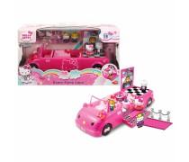Hello Kitty mašina limuzinas - šokių aikštelė su priedais | Dance Party Limo | Dickie 3247000