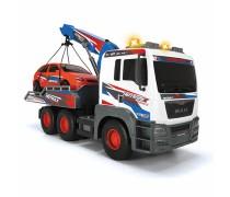 MAN sunkvežimis vilkikas 50 cm su kranu ir mašina | Šviesos ir garso efektai | Dickie 3749025