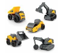 Mini statybinių mašinėlių rinkinys 5 vnt. | Volvo | Dickie 3722008