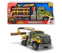 Sunkvežimis 54 cm su kranu ir rąstais | Šviesos ir garso efektai | Dickie 3749026