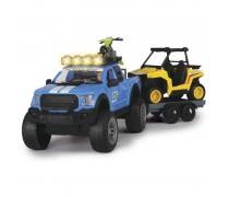 Rinkinys- automobilis su priekaba, keturratis ir motociklas | Offroad Set | Dickie 3838003