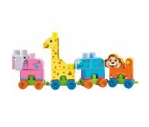 Abrick Maxi kaladėlių rinkinys dėžėje 42 vnt | Traukinukas su gyvūnais | Ecoiffier 7840