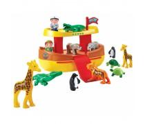 Kaladėlių rinkinys - Nojaus laivas su gyvūnais | Abrick | Ecoiffier 3007