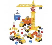 Statybinių mašinėlių rinkinys su kranu ir priedais | Abrick | Ecoiffier 3020