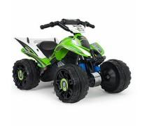 Akumuliatorinis keturratis motociklas - vaikams nuo 2 m. | Kawasaki Quad 12V | Injusa 66055