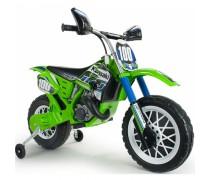 Akumuliatorinis motociklas - vaikams nuo 3 m. | Kawasaki Cross 12V | Injusa 6835
