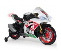 Akumuliatorinis motociklas su šviesomis - vaikams nuo 3 iki 6 m. | Aprilia MP3 | Injusa 64900