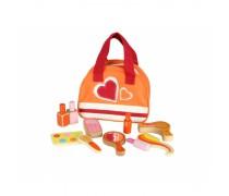 Vaikiškas medinis kosmetikos rinkinys krepšyje | Masterkidz MK00996